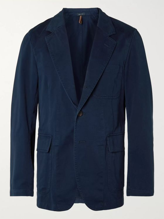 Drake's Unstructured Cotton Suit Jacket