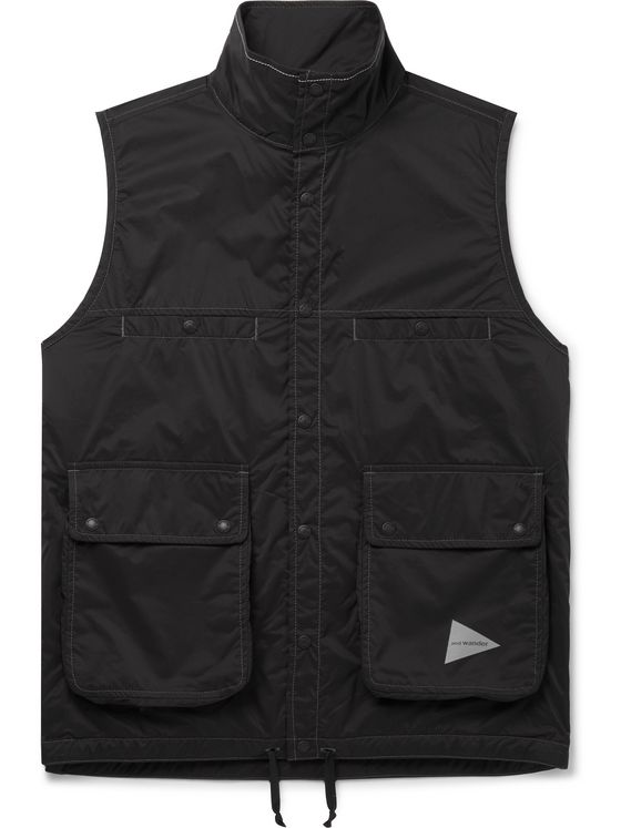 AND WANDER Reversible Nylon-Ripstop Gilet