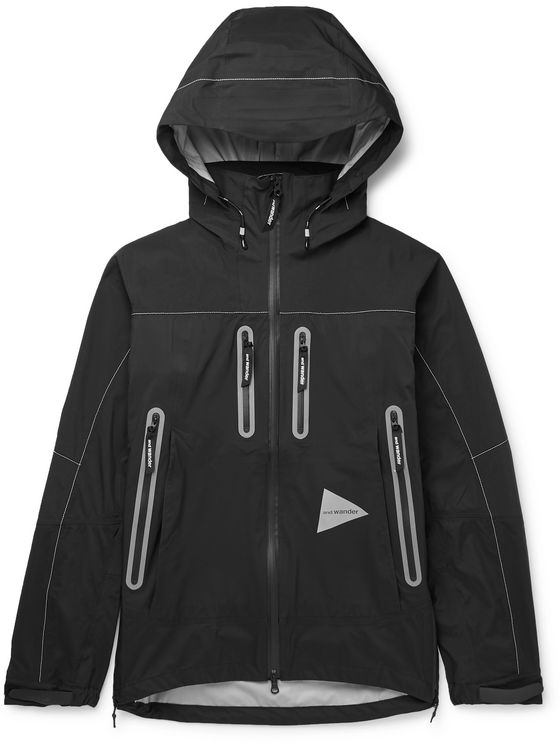 AND WANDER Panelled eVent CORDURA and Nylon Hooded Jacket
