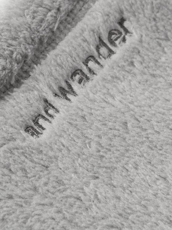 And Wander Logo-Embroidered High Loft Polartec Fleece Neck Warmer