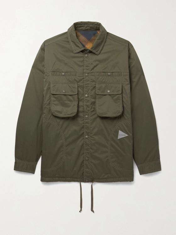 AND WANDER Reversible Nylon-Ripstop Jacket
