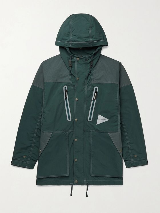 And Wander Pertex Nylon Hooded Jacket