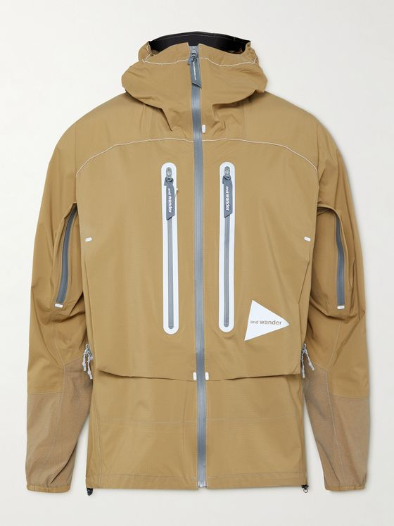 And Wander Shell Hooded Jacket