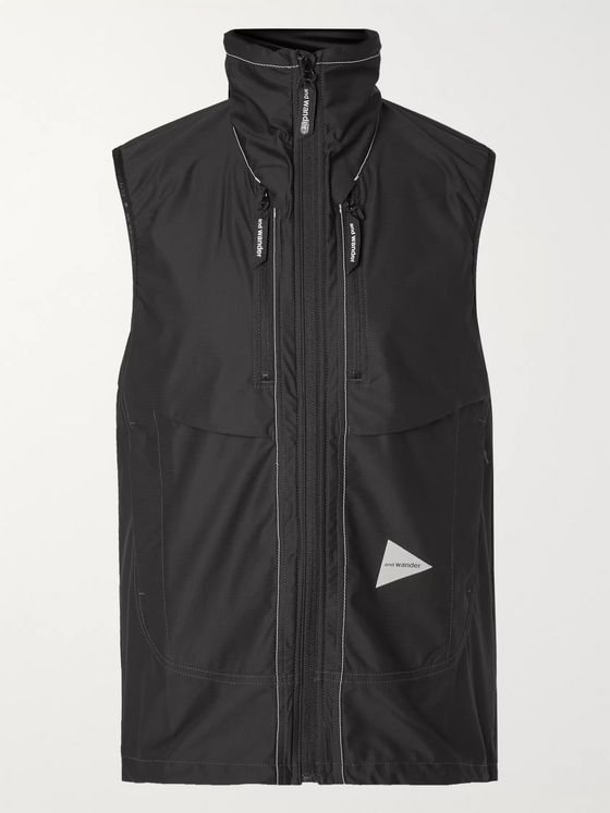 And Wander Shell Hooded Gilet