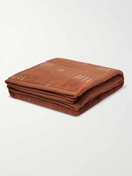 Mollusk Cotton-Terry Jacquard Towel