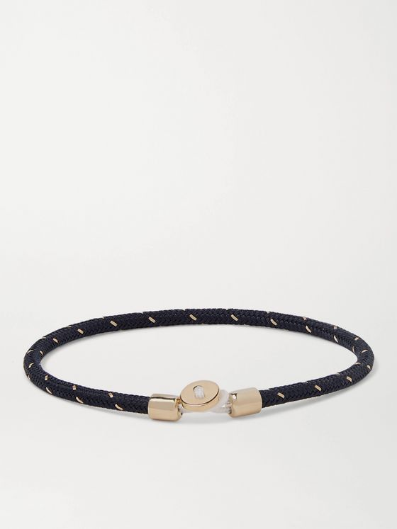 Miansai Nexus Woven Nylon and Gold Vermeil Bracelet