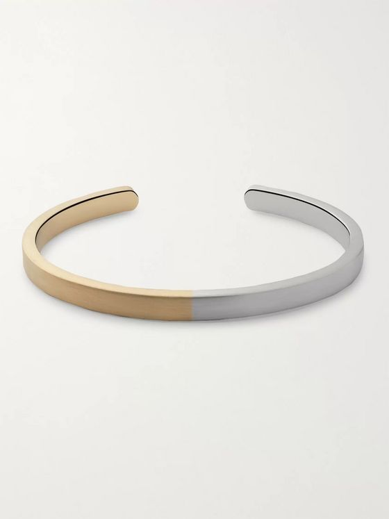 Miansai Singular Gold-Plated and Sterling Silver Cuff