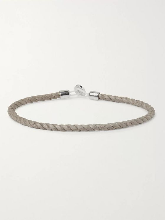 Miansai Nexus Sterling Silver and Cord Bracelet