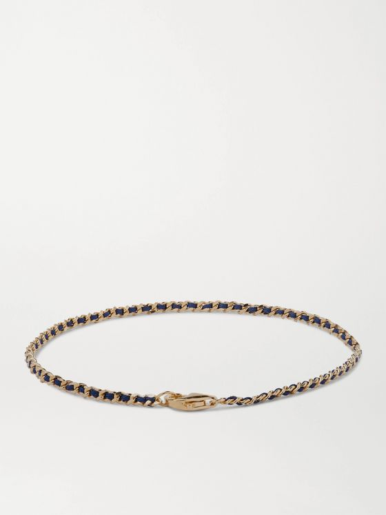 Miansai Woven Nylon and Gold Vermeil Bracelet