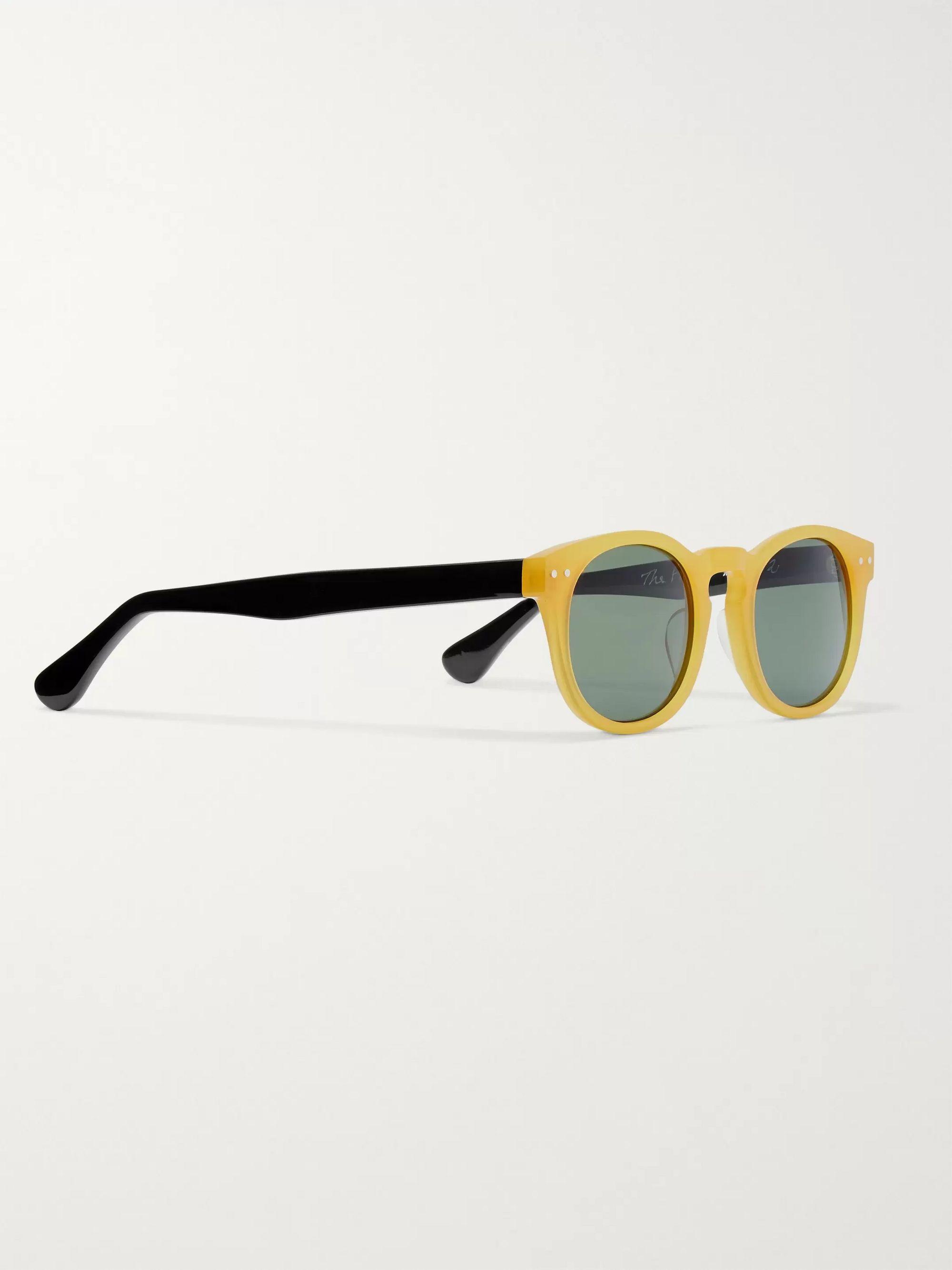 Yellow The Forli Round-frame Two-tone Acetate Polarised Sunglasses   E.b. Meyrowitz