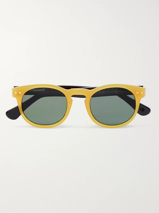 E.B. Meyrowitz The Forli Round-Frame Two-Tone Acetate Polarised Sunglasses