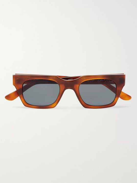E.B. Meyrowitz The Flavio Square-Frame Tortoiseshell Acetate Polarised Sunglasses