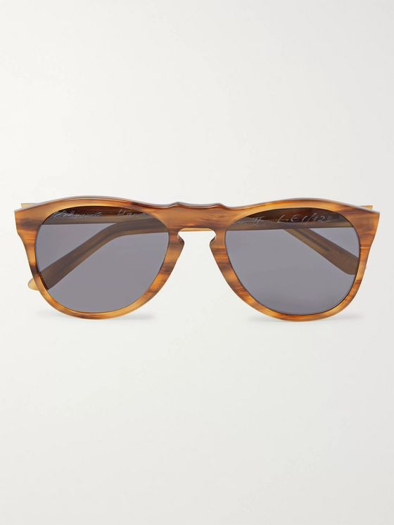 E.B. Meyrowitz The McQueen II Round-Frame Acetate Polarised Sunglasses