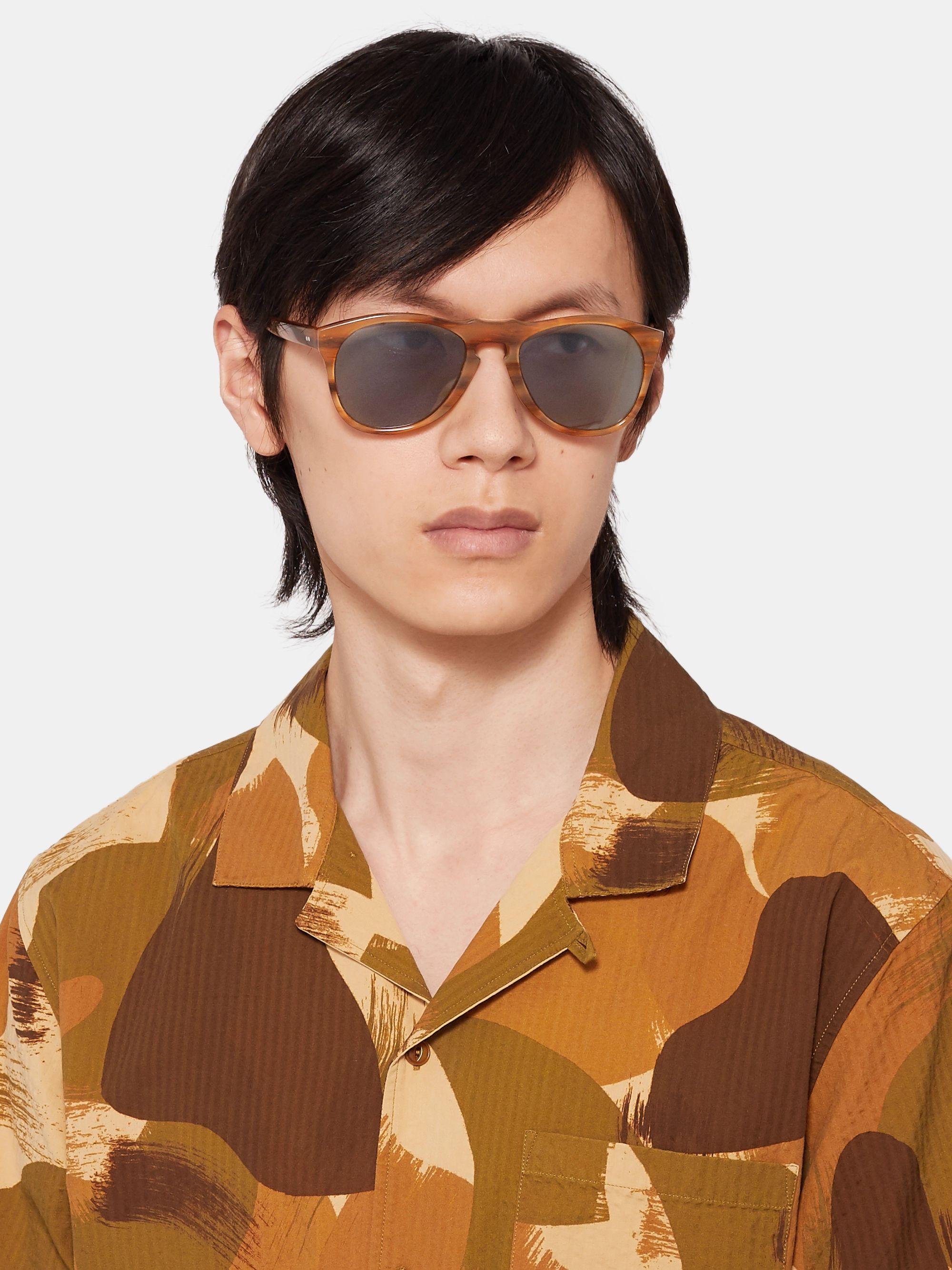Light Brown The Mcqueen Ii Round-frame Acetate Polarised Sunglasses | E.b. Meyrowitz