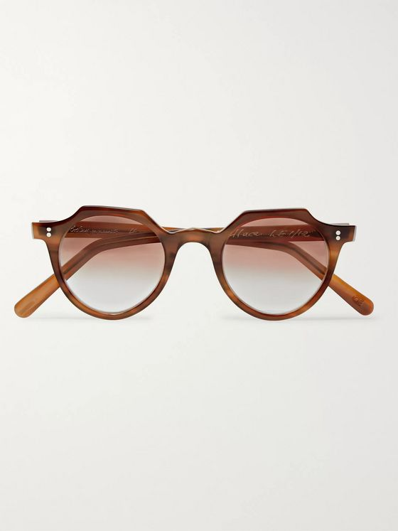 E.B. Meyrowitz The Wallace Round-Frame Acetate Sunglasses