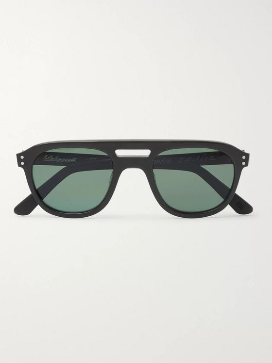 E.B. Meyrowitz The Neutra Aviator-Style Matte-Acetate Polarised Sunglasses