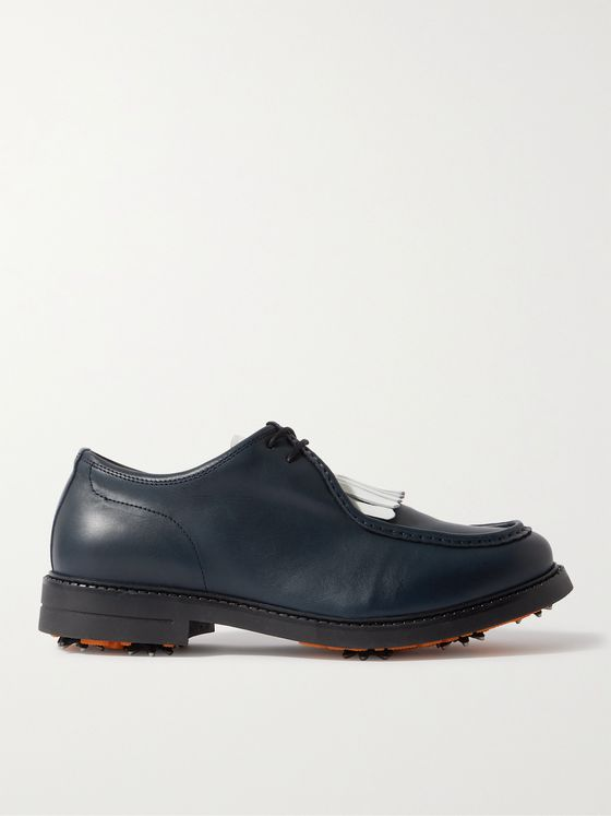 MR P. Leather Kiltie Derby Golf Shoes