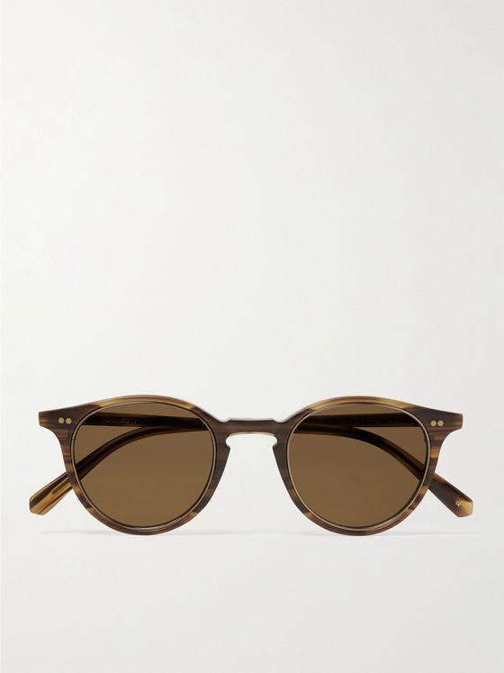 Mr Leight Marmont S Round-Frame Tortoiseshell Acetate and Gold-Tone Titanium Sunglasses