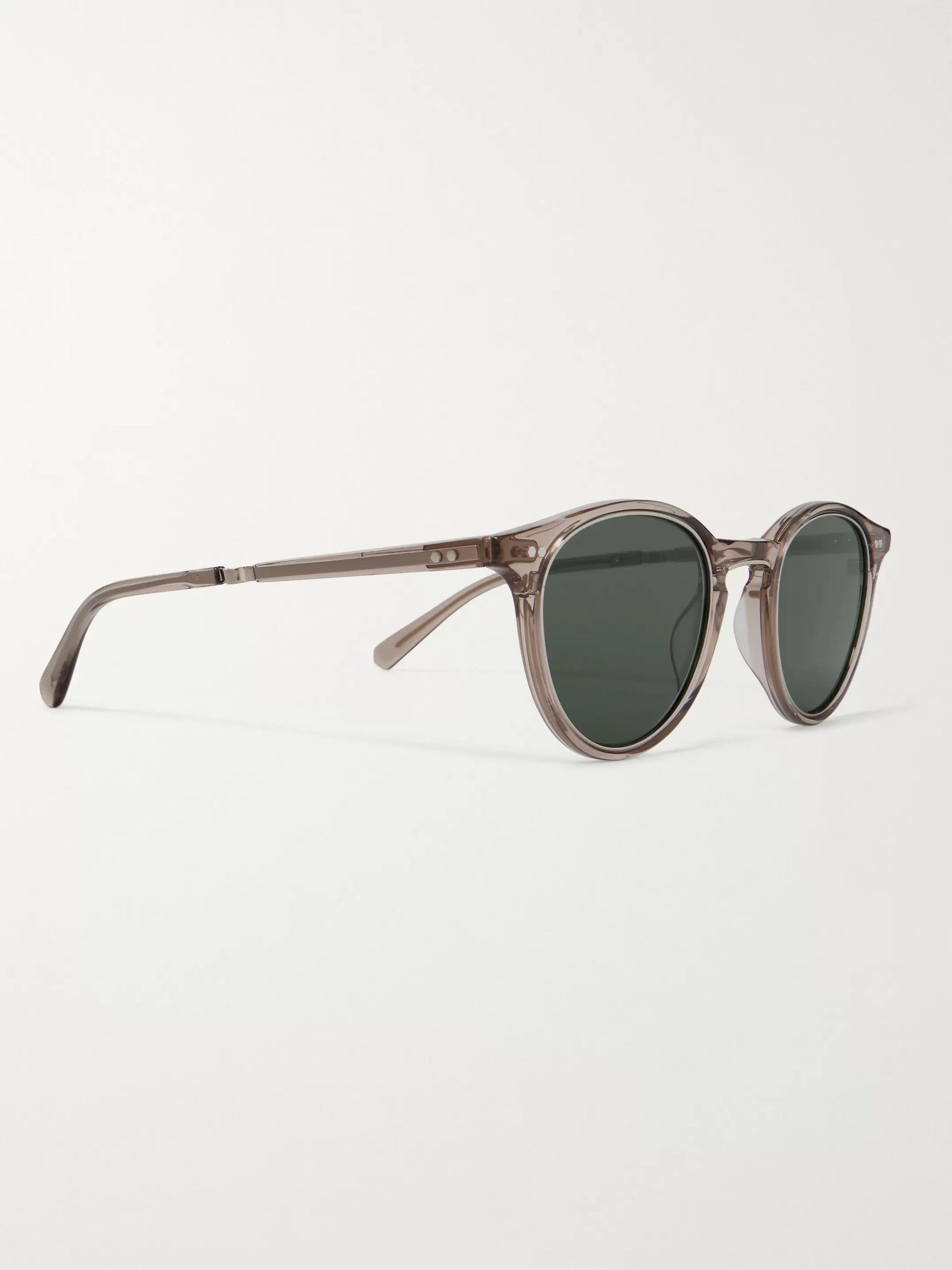 Mr Leight Marmont S Round-Frame White Gold-Plated and Acetate Glasses