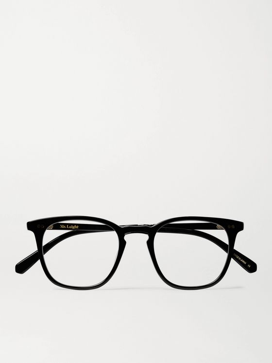Mr Leight Getty C Square-Frame Acetate and Gold-Tone Titanium Optical Glasses
