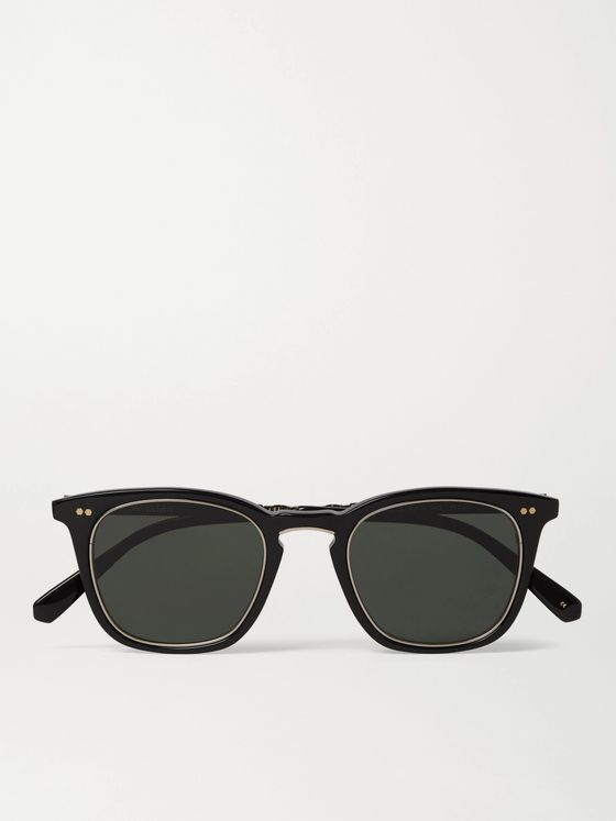 MR LEIGHT Getty S Square-Frame Acetate and Titanium Sunglasses
