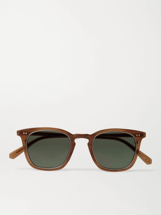 MR LEIGHT Getty S Square-Frame Acetate and Gold-Tone Titanium Sunglasses