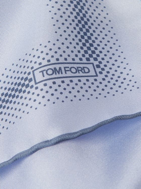 TOM FORD Printed Silk-Twill Pocket Square