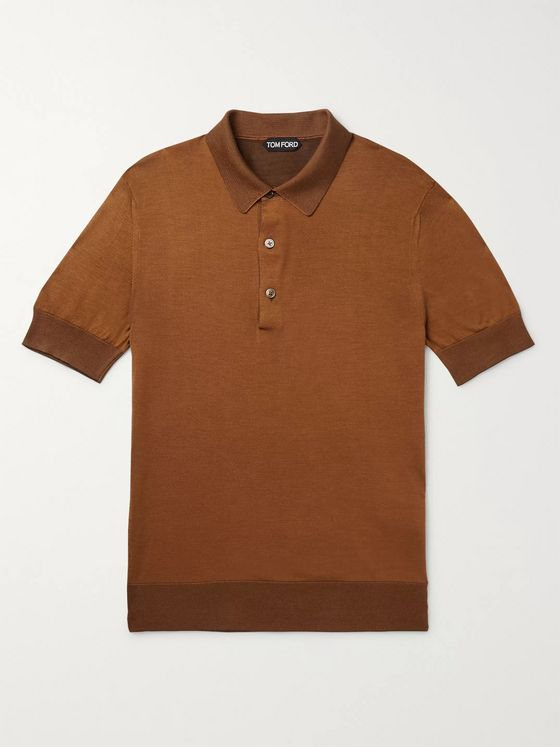 TOM FORD Slim-Fit Silk Polo Shirt