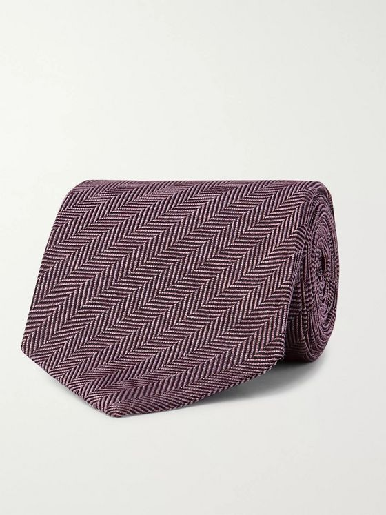 TOM FORD 7cm Herringbone Silk-Jacquard Tie