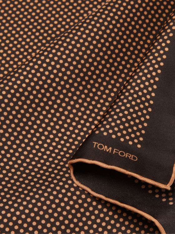 TOM FORD Polka-Dot Silk-Twill Pocket Square