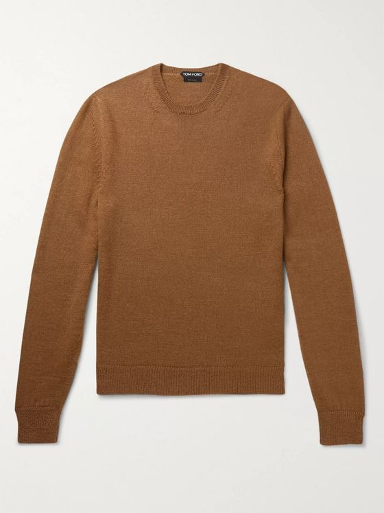 TOM FORD Slim-Fit Alpaca and Silk-Blend Sweater