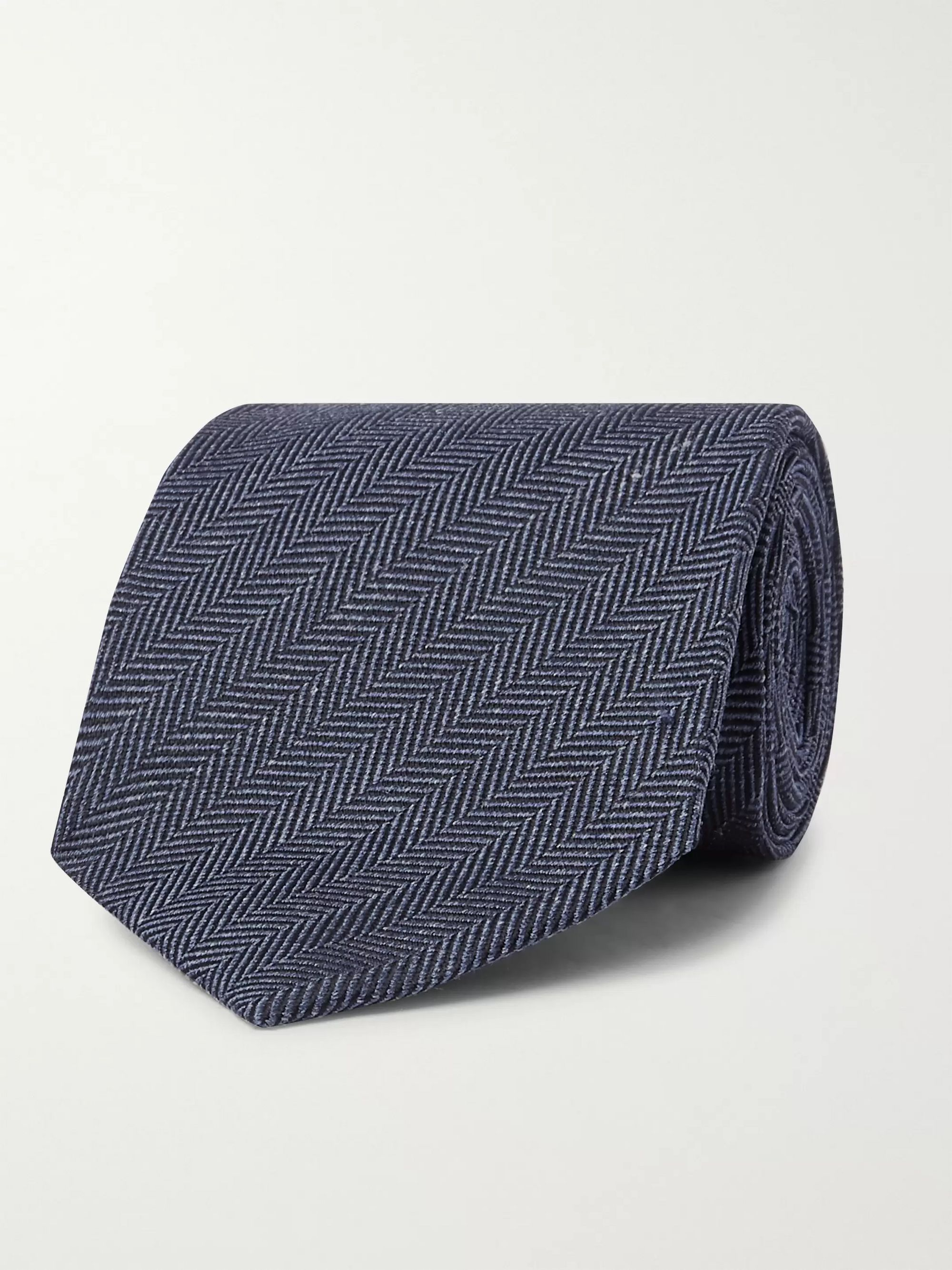TOM FORD 8cm Herringbone Silk-Jacquard Tie