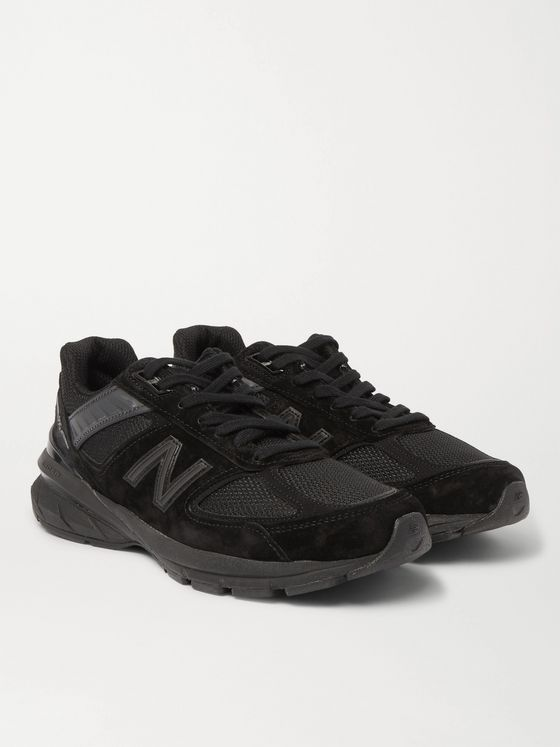 New Balance M990v5 Rubber-Trimmed Suede and Mesh Sneakers