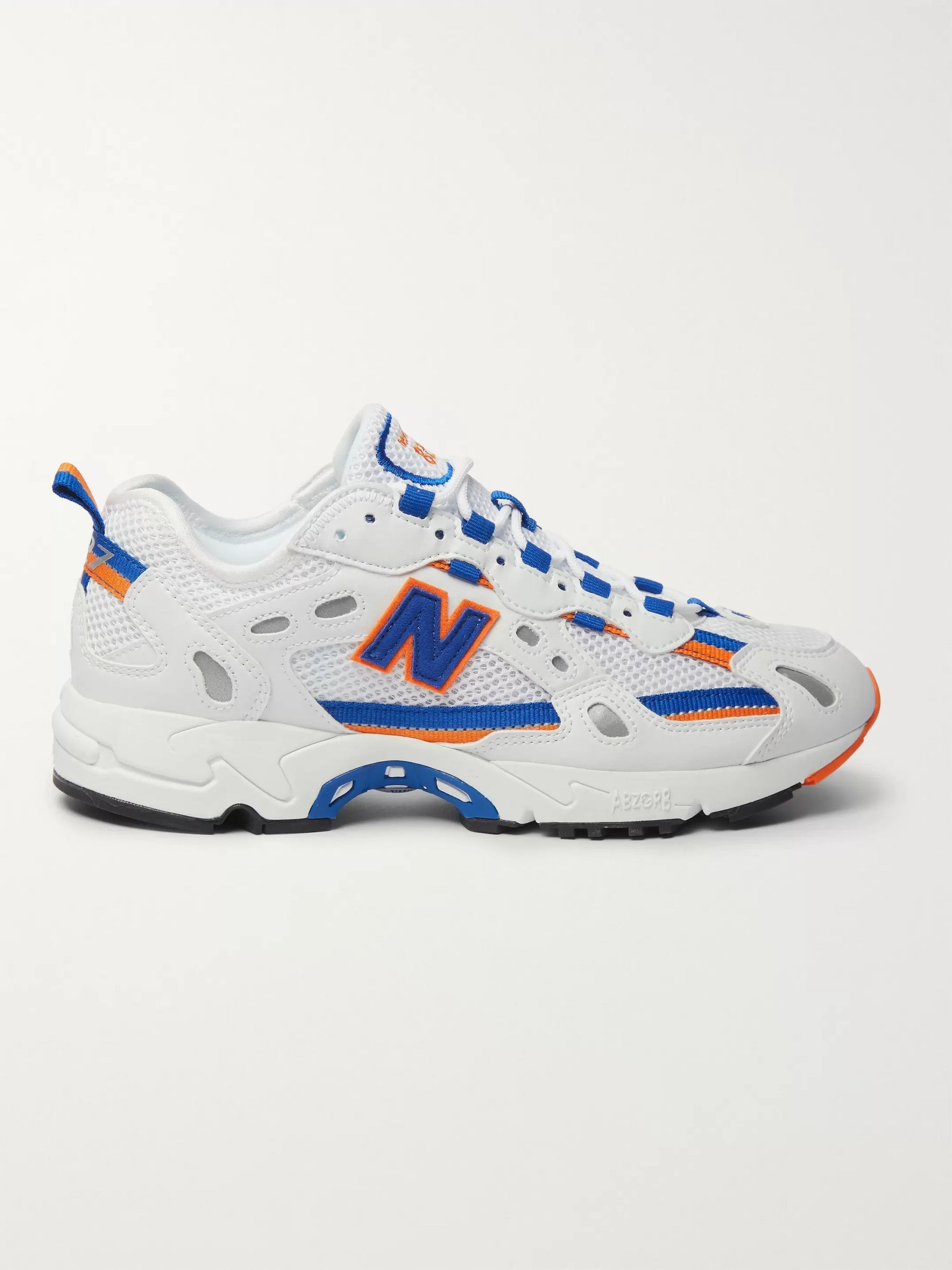 New Balance 827 Webbing-Trimmed Faux Leather and Mesh Sneakers