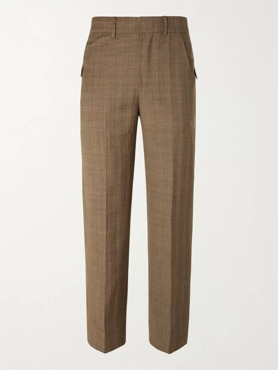 Ader Error Prince of Wales Checked Wool Suit Trousers
