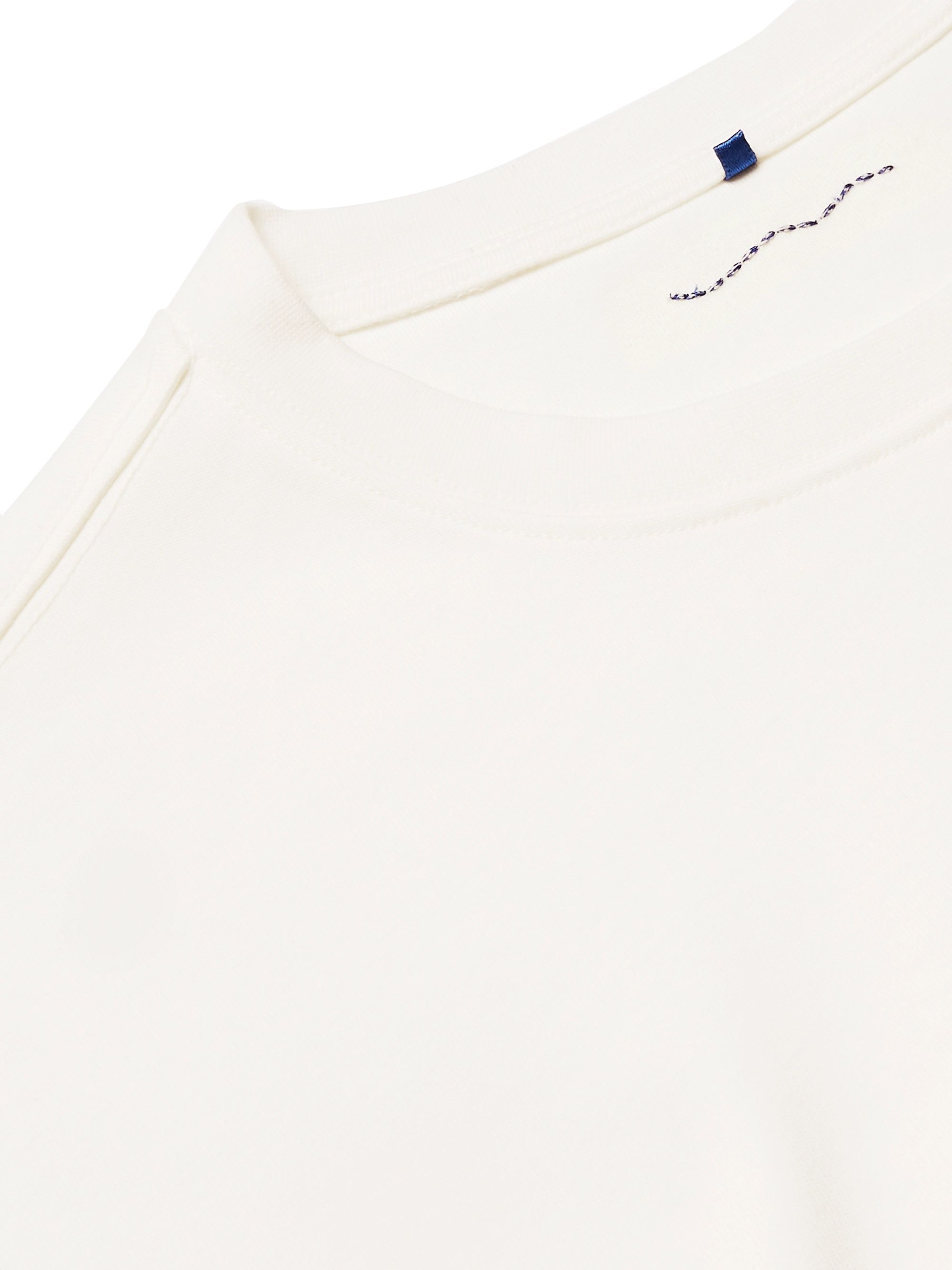 White Logo-embroidered Printed Cotton-jersey T-shirt | Ader Error