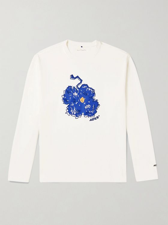 Ader Error Logo-Embroidered Printed Cotton-Jersey T-Shirt