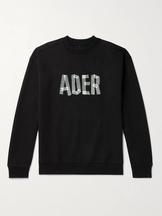 Ader Error Oversized Logo-Print Cotton-Blend Jersey Sweatshirt