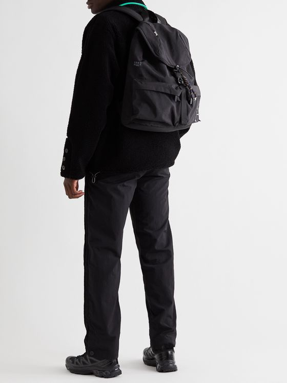 Ader Error Logo-Appliquéd Canvas Backpack