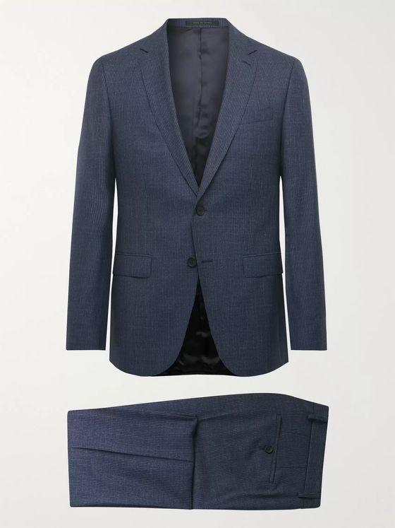 Hugo Boss Pinstriped Virgin Wool Suit Jacket
