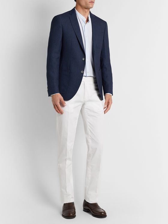 Hugo Boss Raye Slim-Fit Unstructured Wool, Linen and Silk-Blend Blazer