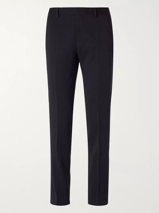 Hugo Boss Huge/Genius Slim-Fit Nailhead Wool-Blend Suit Trousers