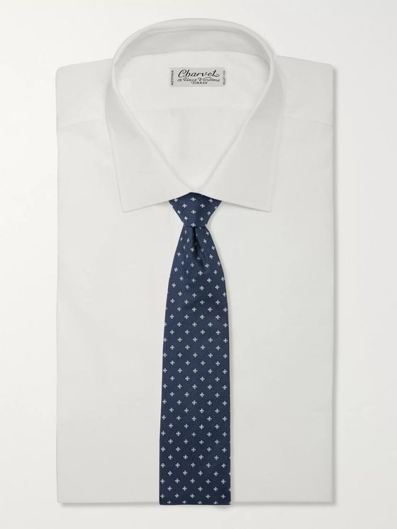 Hugo Boss 7cm Embroidered Silk Tie