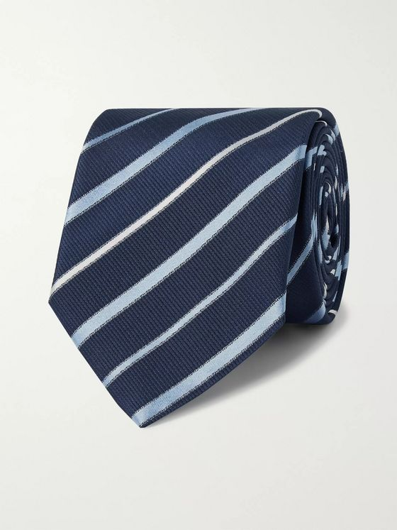 Hugo Boss 6.5cm Striped Silk Tie