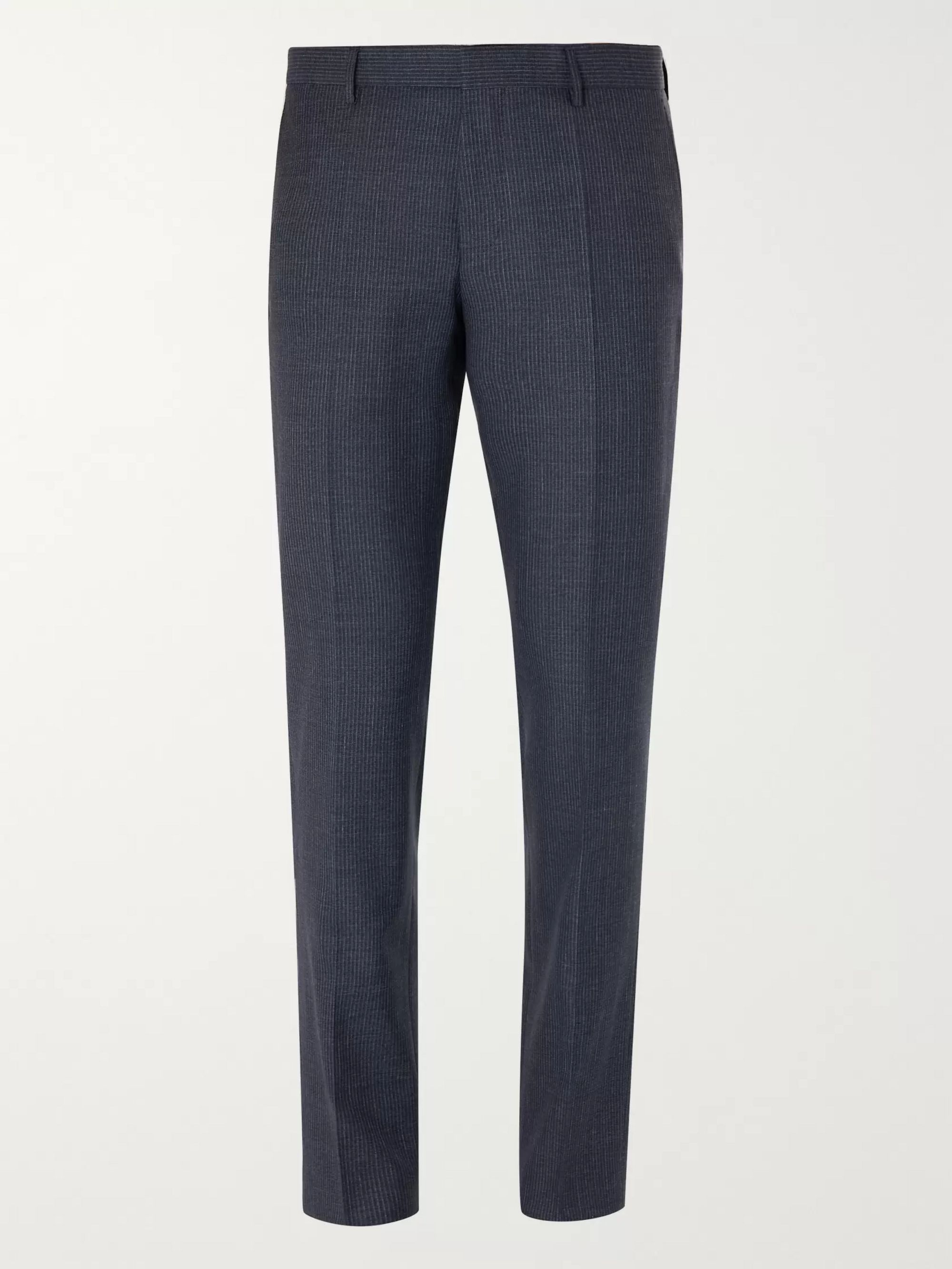 Hugo Boss Pinstriped Virgin Wool Suit Trousers