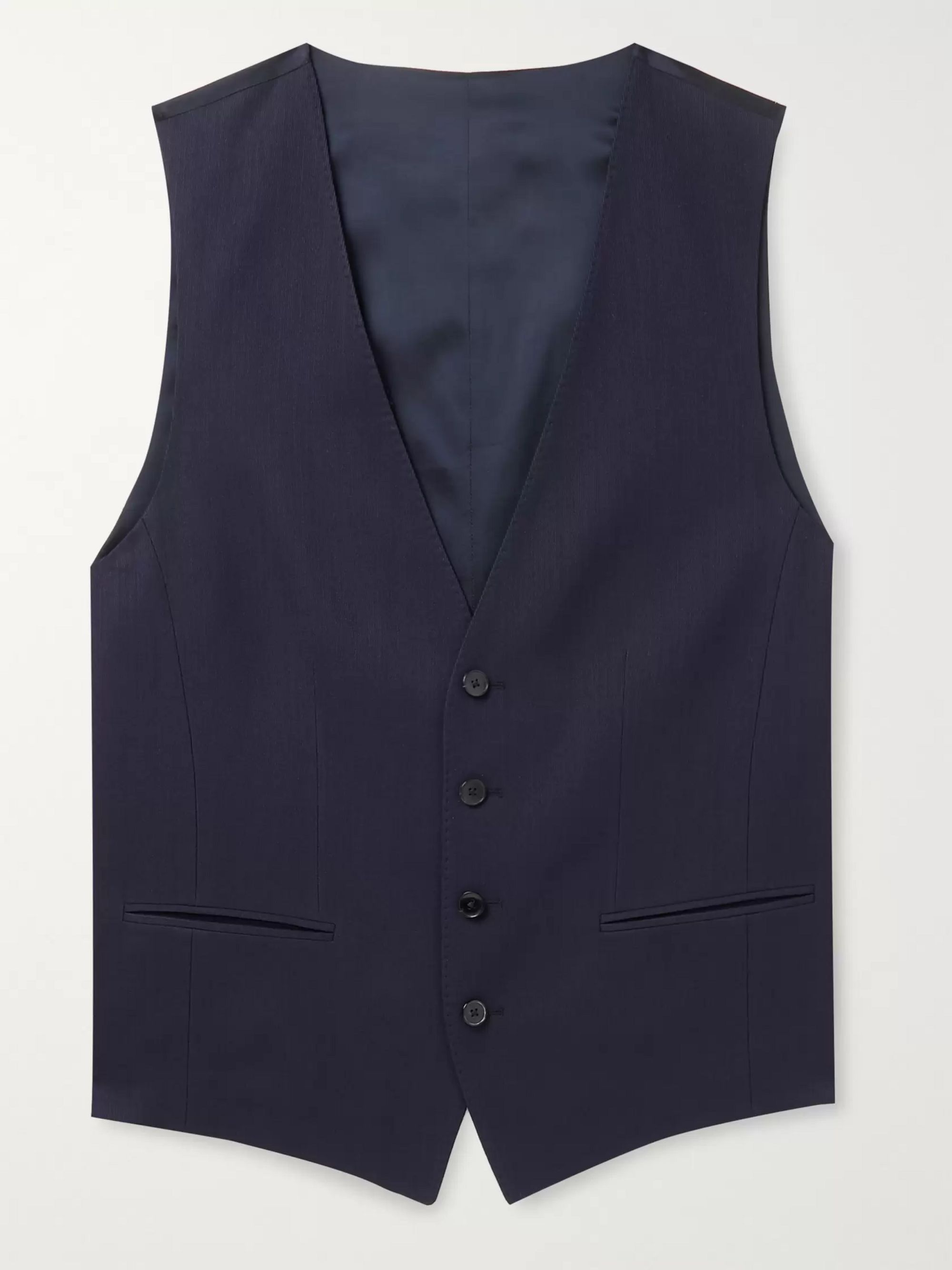 Hugo Boss Huge/Genius Slim-Fit Nailhead Wool-Blend Waistcoat