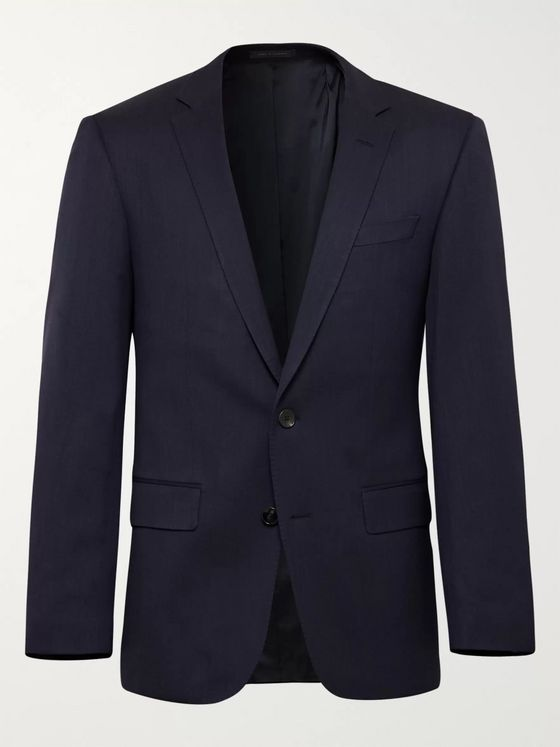 Hugo Boss Huge/Genius Slim-Fit Nailhead Wool-Blend Suit Jacket