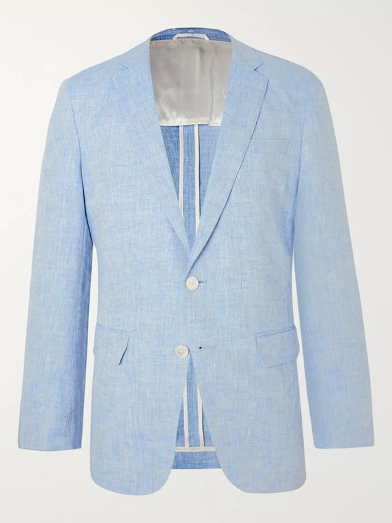 Hugo Boss Helford Gander Slim-Fit Linen Suit
