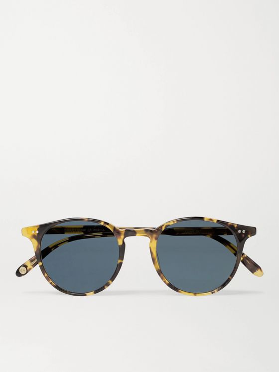 GARRETT LEIGHT CALIFORNIA OPTICAL Clune Round-Frame Tortoiseshell Acetate Sunglasses