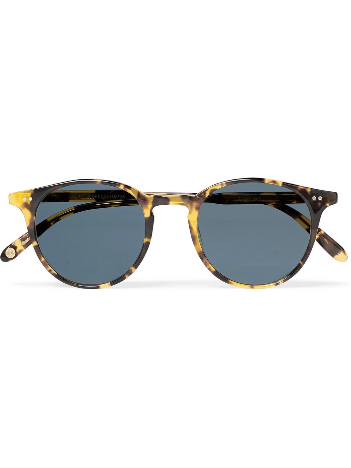 garrett leight california optical - clune round-frame tortoiseshell acetate sunglasses - men - brown